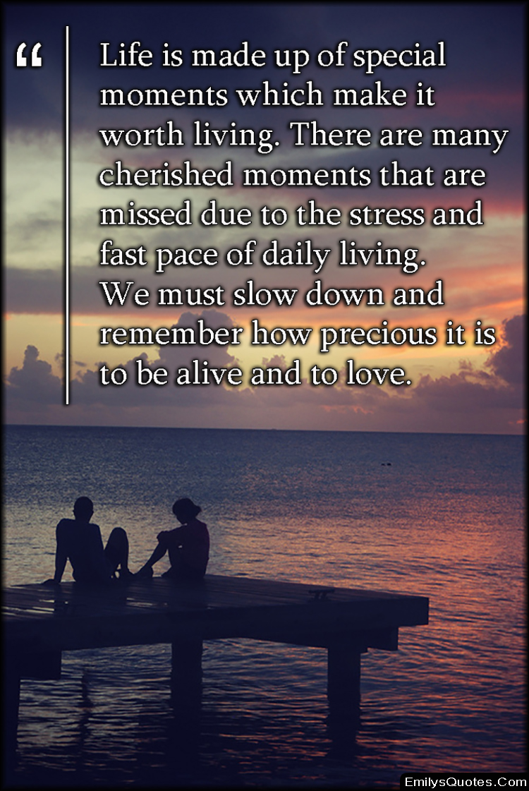Life Stress Quotes Life Is Made Up Of Special Moments Which Make It Worth Living