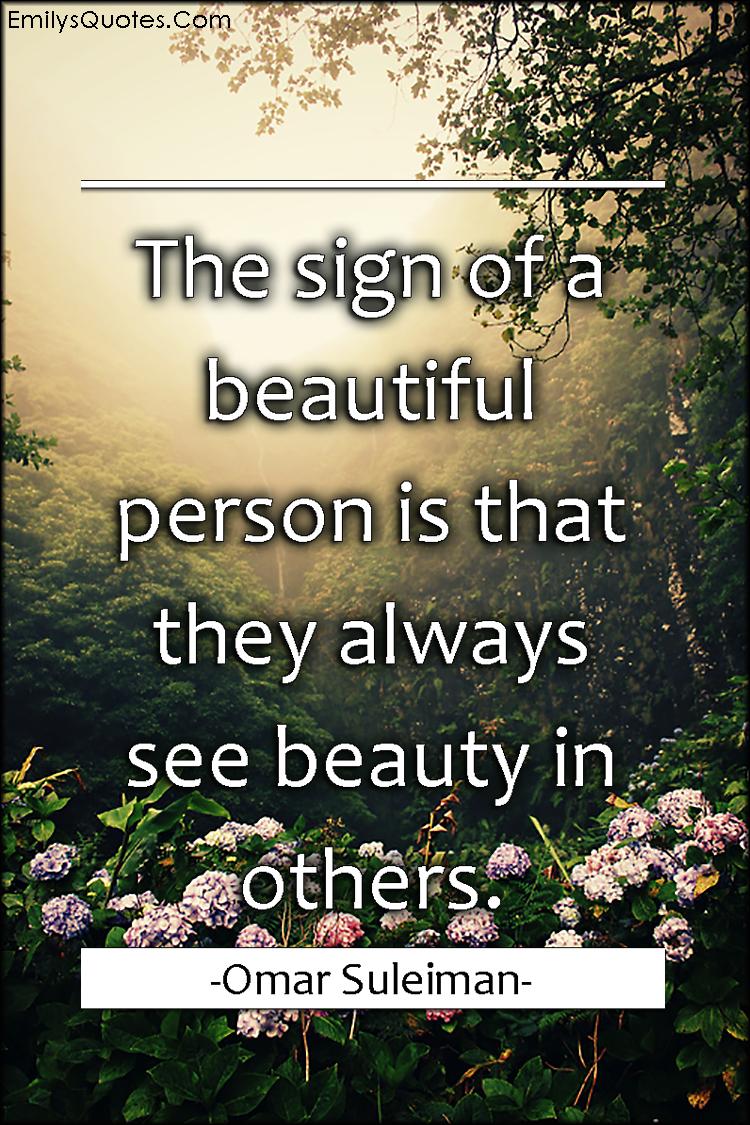 EmilysQuotes.Com - sign, beauty, people, understanding, seeing, Omar Suleiman