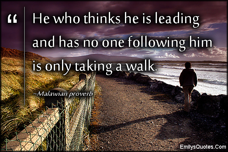 EmilysQuotes.Com - think, leading, understanding, wisdom, intelligent, African proverb, Malawian proverb