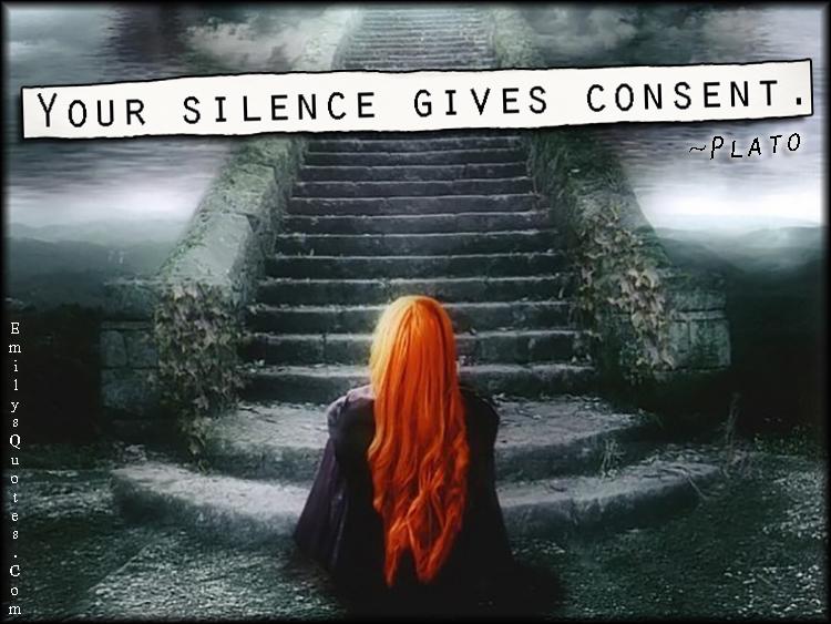 EmilysQuotes.Com - wisdom, silence, consent, consequences, Plato
