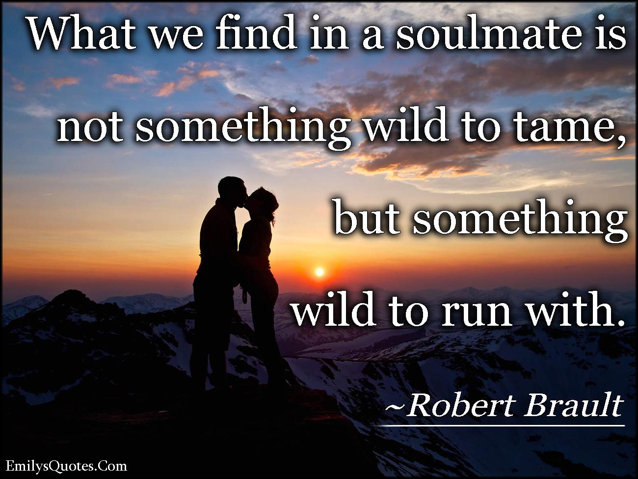 EmilysQuotes.Com - soulmate, wild, tame, relationship, understanding, love, Robert Brault