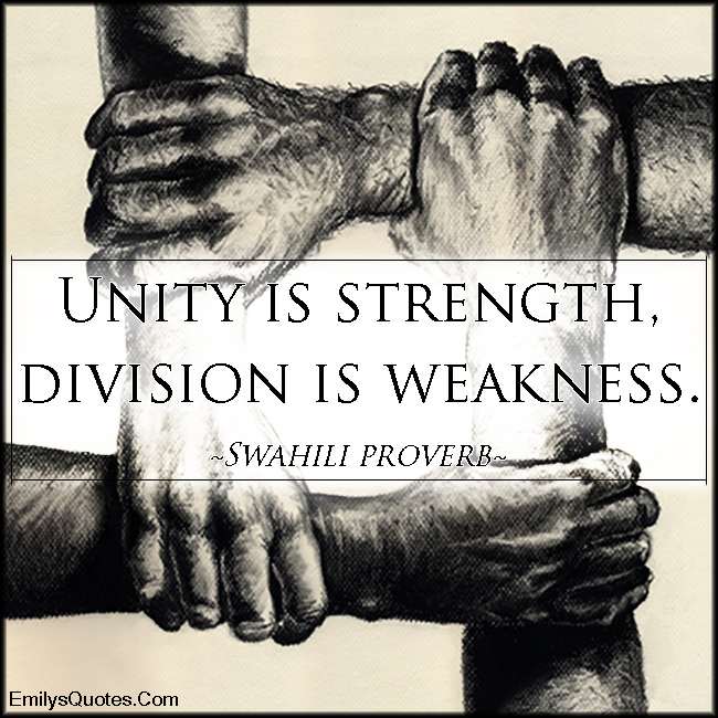 Unity Is Strength, Division Is Weakness