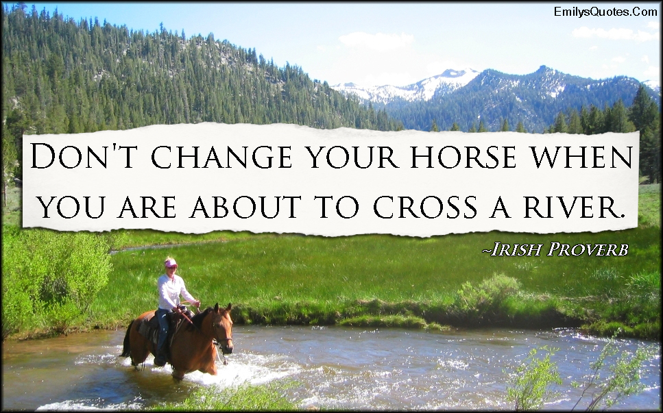 EmilysQuotes.Com - advice, change, horse, river, wisdom, intelligent, Irish Proverb