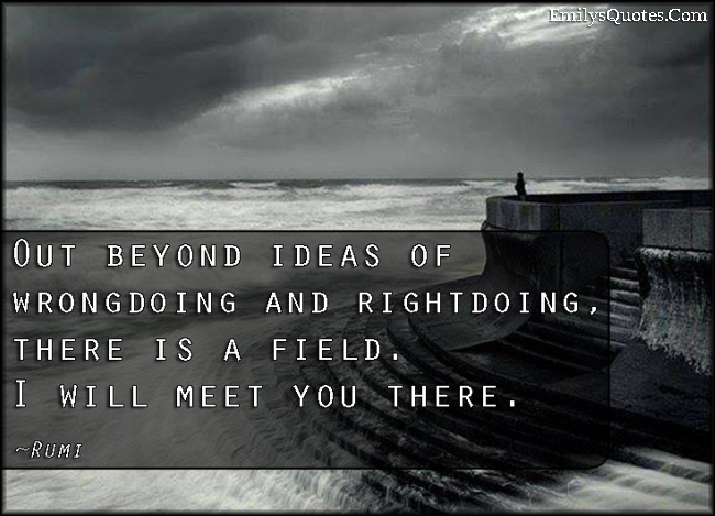 EmilysQuotes.Com - beyond, ideas, wrongdoing, rightdoing, field, meet, amazing, inspirational, wisdom, Rumi