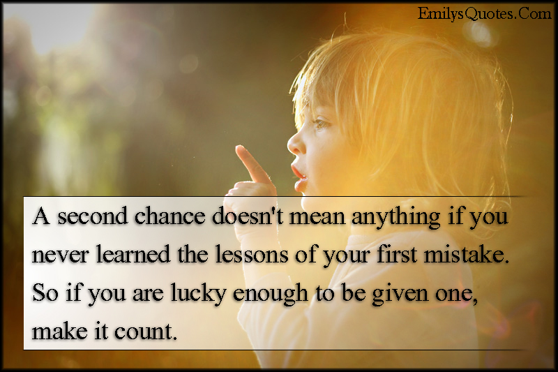 Wonderful Com   Chance, Mean, Learn, Lessons, Mistake, Lucky,