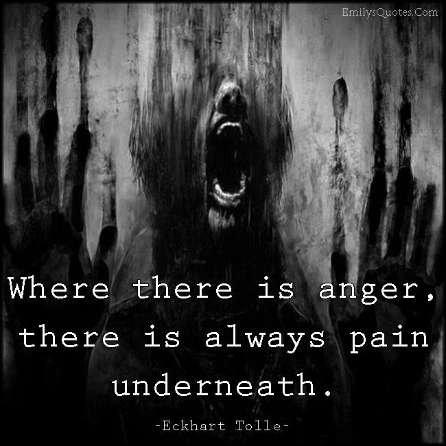 EmilysQuotes.Com - anger, pain, negative, sad, Eckhart Tolle