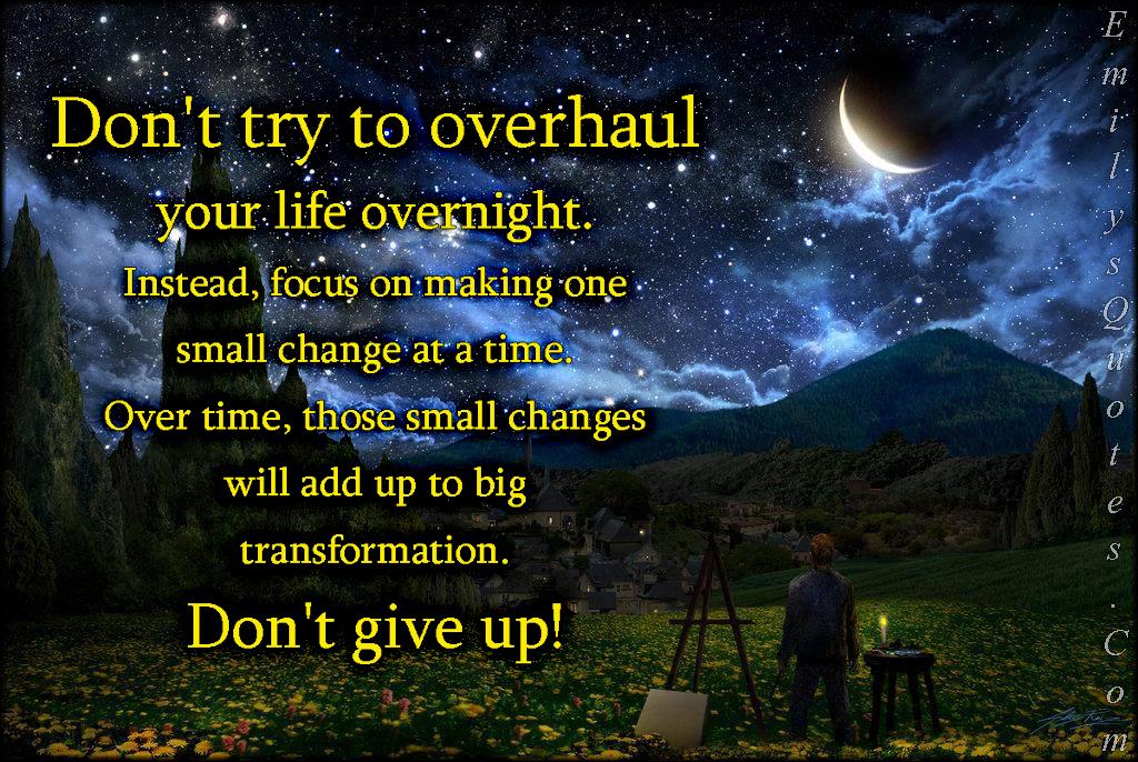 Attrayant Com   Try, Overhaul, Change, Life, Overnight, Focus,