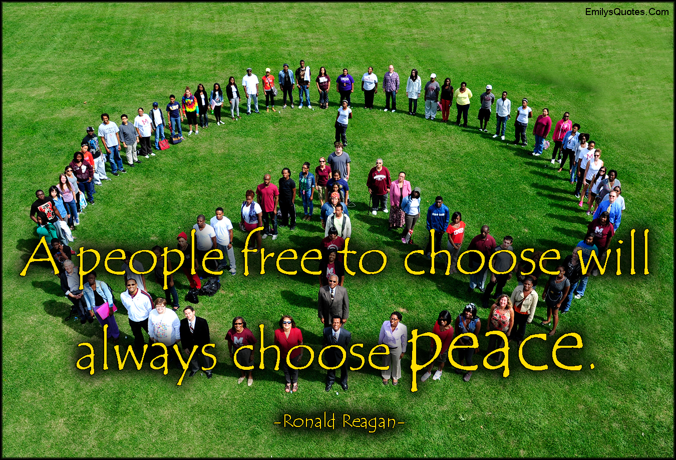 EmilysQuotes.Com - people, free, choose, choice, peace, inspirational, great, Ronald Reagan