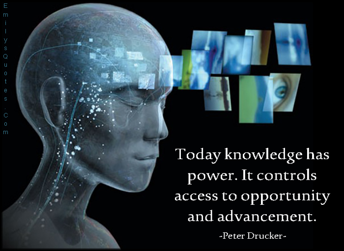 EmilysQuotes.Com - today, present, knowledge, power, control, access, opportunity, advancement, intelligent, Peter Drucker