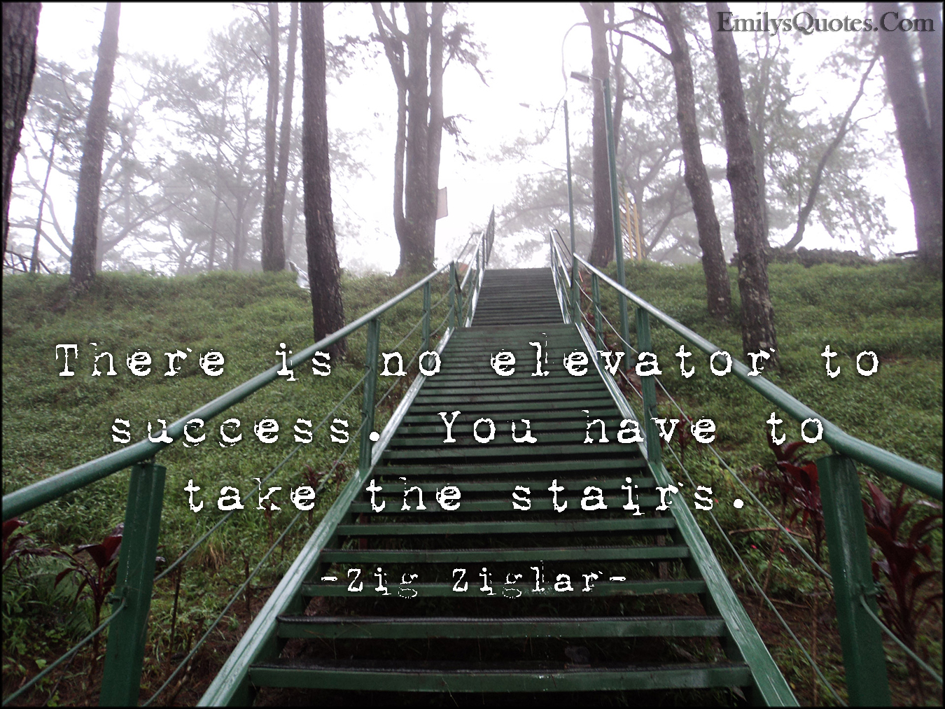 EmilysQuotes.Com - elevator, success, stairs, inspirational, life, attitude, encouraging, Zig Ziglar