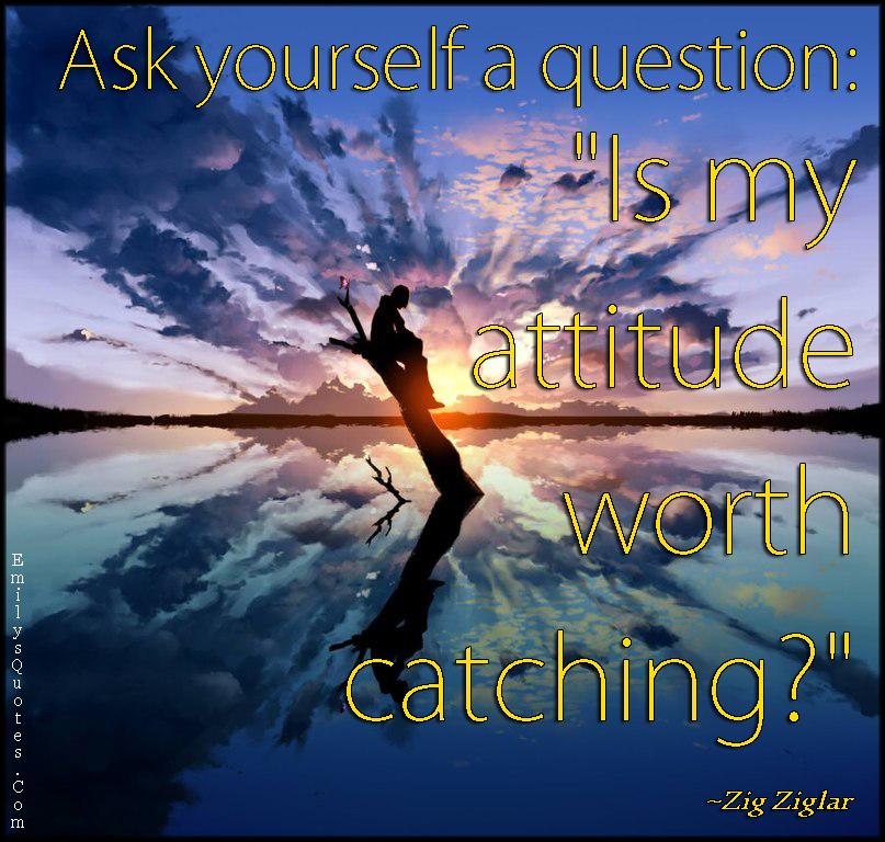 EmilysQuotes.Com - question, attitude, worth, catching, inspirational, Zig Ziglar