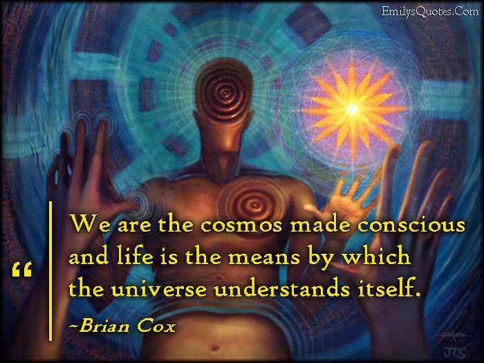 EmilysQuotes.Com - cosmos, conscious, life, universe, understanding, wisdom, amazing, great, inspirational, Brian Cox