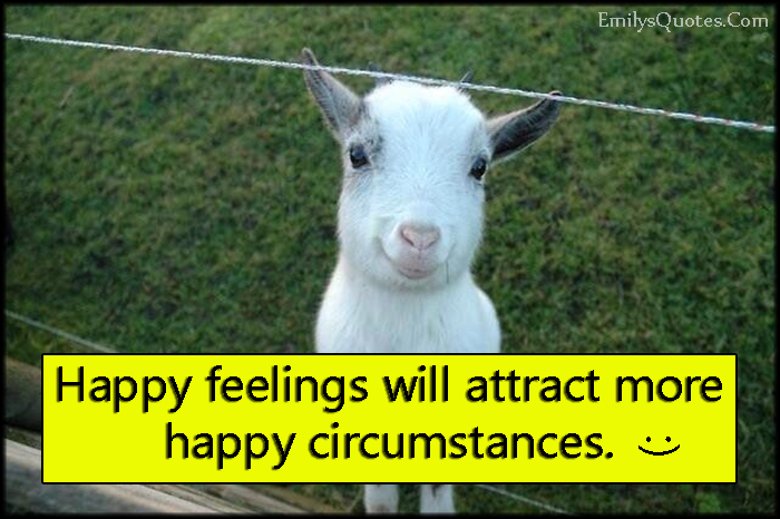 EmilysQuotes.Com - happy, happiness, feelings, attract, happy circumstances, positive, unknown
