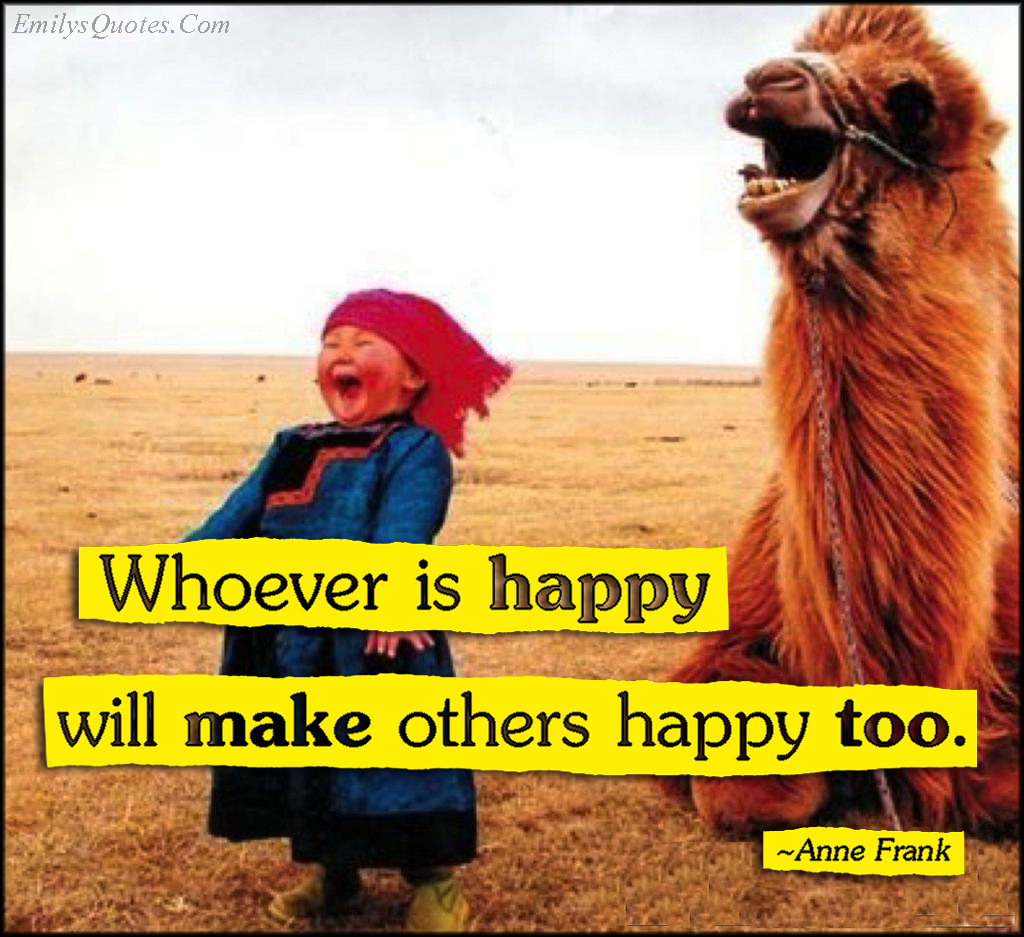 EmilysQuotes.Com - happy, happiness, positive, inspirational, Anne Frank