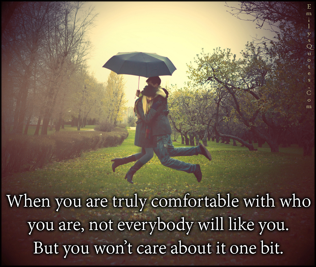 EmilysQuotes.Com - truly, comfortable, being together, like, care, relationship, unknown