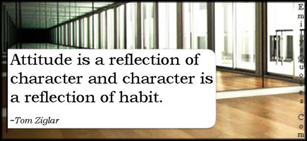 EmilysQuotes.Com - attitude, reflection, character, habit, wisdom, consequences, intelligent, Tom Ziglar