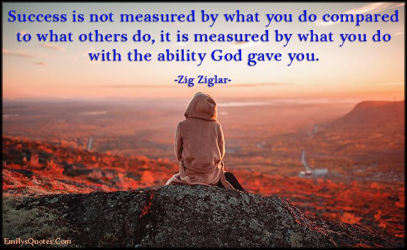 EmilysQuotes.Com - success, measured, ability, God, attitude, inspirational, Zig Ziglar