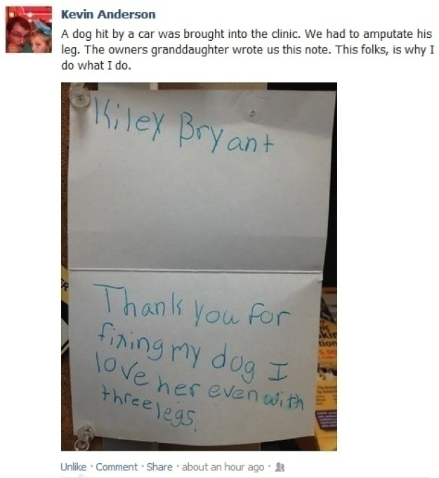 Pictures That Will Restore Your Faith In Humanity - 10. This note from a little kid.