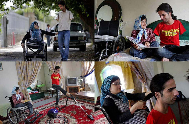 Pictures That Will Restore Your Faith In Humanity - 28. These pictures of Ahmad and Fatima, a young married couple who, despite Ahmad having no arms and Fatima having no legs, take care of each other.