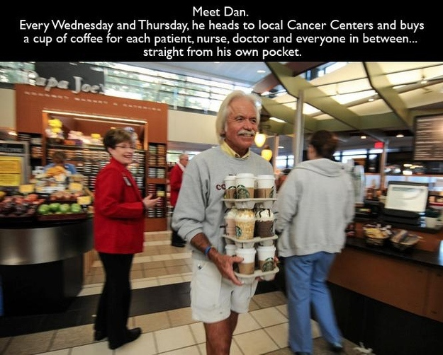 Pictures That Will Restore Your Faith In Humanity - 9. Dan and his coffee runs.