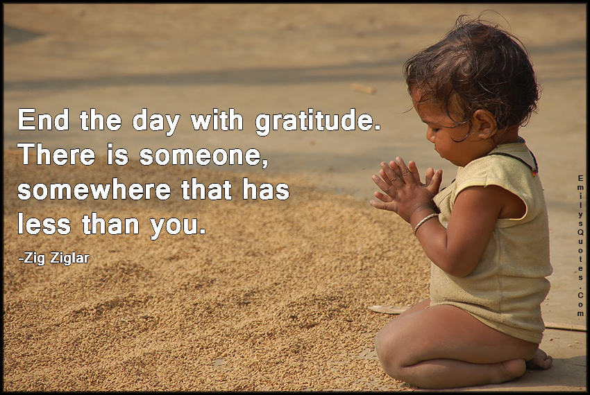 EmilysQuotes.Com - gratitude, thankful, less, inspirational, advice, life, Zig Ziglar