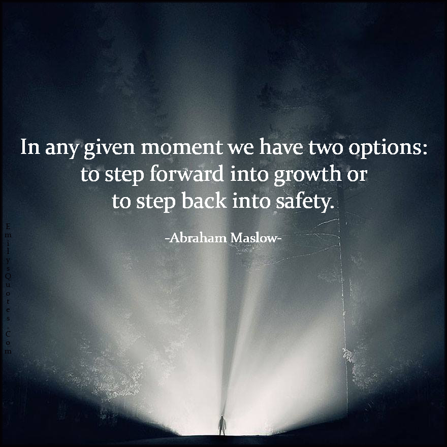 In Any Given Moment We Have Two Options To Step Forward