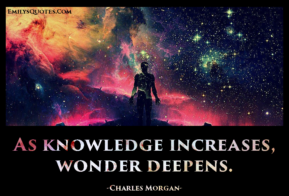 EmilysQuotes.Com-knowledge,wisdom,intelligent,wonder,inspirational,Charles Morgan
