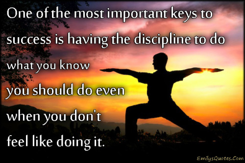 discipline is the key to success essay
