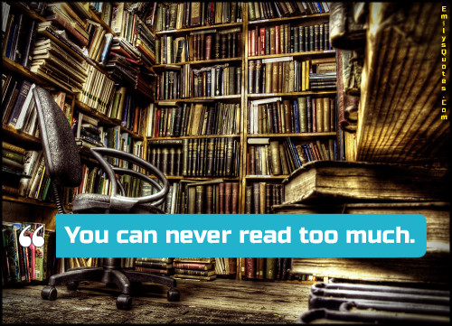 You can never read too much.