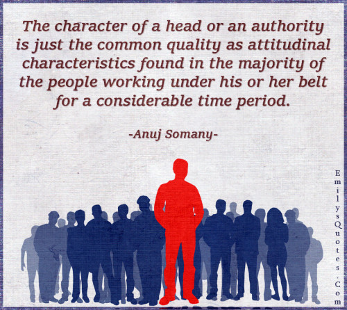 The character of a head or an authority is just the common quality
