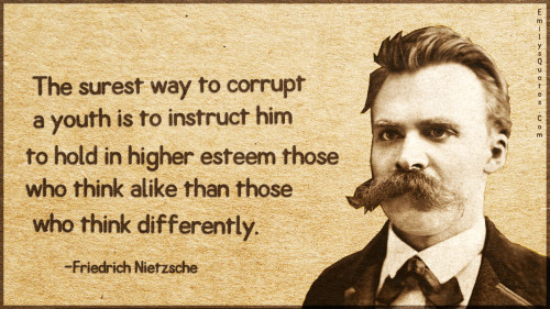 The surest way to corrupt a youth is to instruct him to hold in