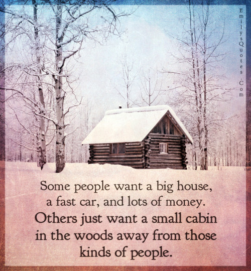 Some people want a big house, a fast car, and lots of money.