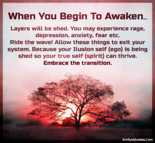 When You Begin To Awaken.