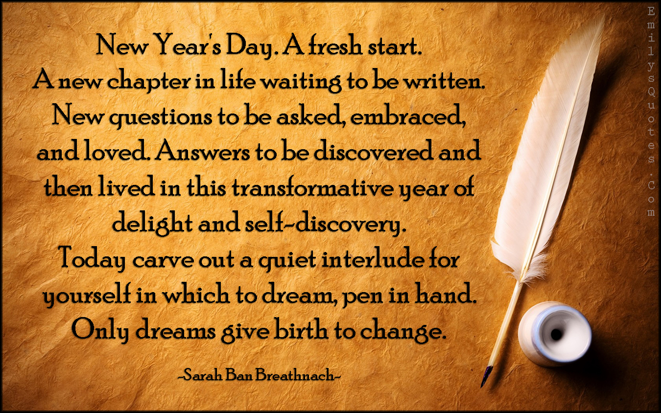 new year s day a fresh start a new chapter in life waiting to be