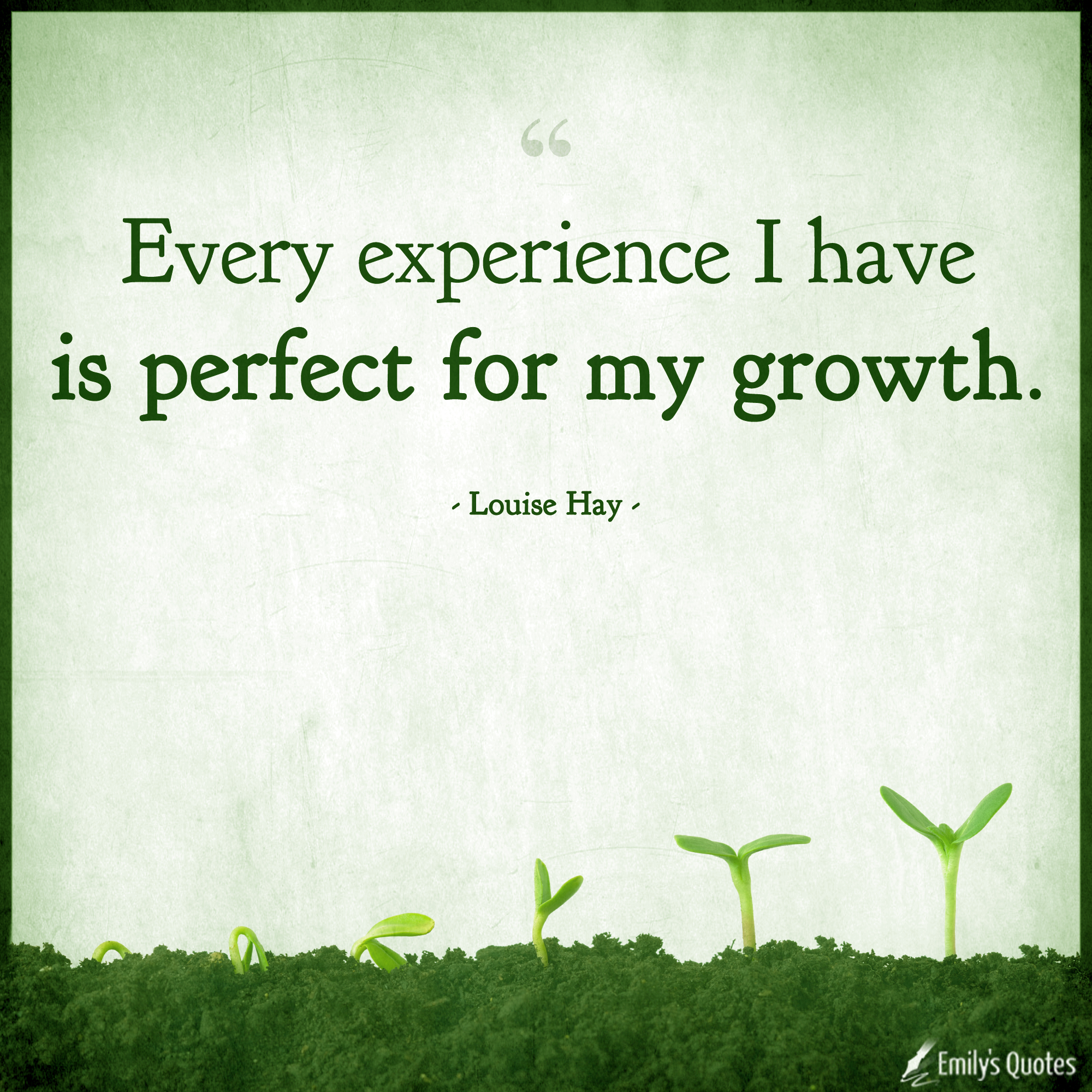 every experience i have is perfect for my growth popular